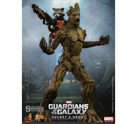 Guardians of the Galaxy Movie Masterpiece Action Figure 2 Pack 1/6 Rocket and Groot