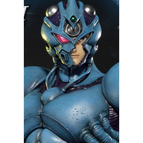 guyver the bioboosted armor statue and bust guyver i ultimate edition set
