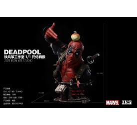 Marvel X-Force 1/1 The Deadpool Life-Size Bust 88 cm