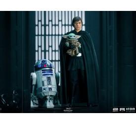 Star Wars The Mandalorian Luke Skywalker with R2-D2 and Grogu Legacy Replica 1/4 Statue 53 cm