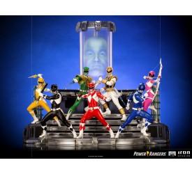 Power Rangers BDS Art Scale Statue 1/10 Rangers Whole Set (Including Zordon) 17-35 cm
