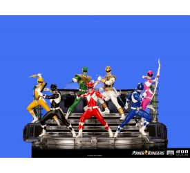 Power Rangers BDS Art Scale Statue 1/10 Rangers Whole Set (without Zordon) 17 cm