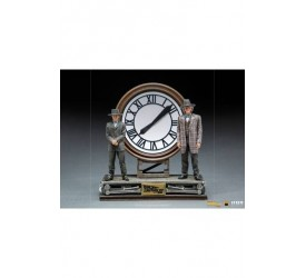 Back to the Future III Deluxe Art Scale Statue 1/10 Marty and Doc at the Clock 30 cm