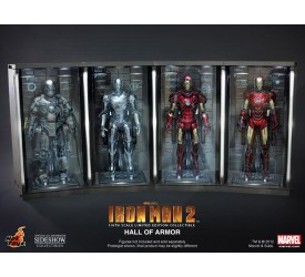 Iron Man 2 Diorama 1/6 Hall of Armor 4 pieces set 34 cm