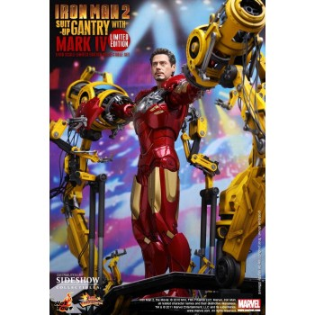 Iron Man 2 Movie Masterpiece Action Figure 1/6 Iron Man Mark IV Suit-Up Gantry 30 cm