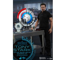 Iron Man 2 Movie Masterpiece Action Figure 1/6 Tony Stark with Arc Reactor Creation Accessories 30 cm