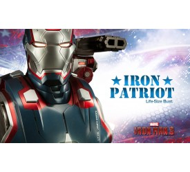 Iron Man 3 1/1 Iron Patriot Life Size Bust 66 cm