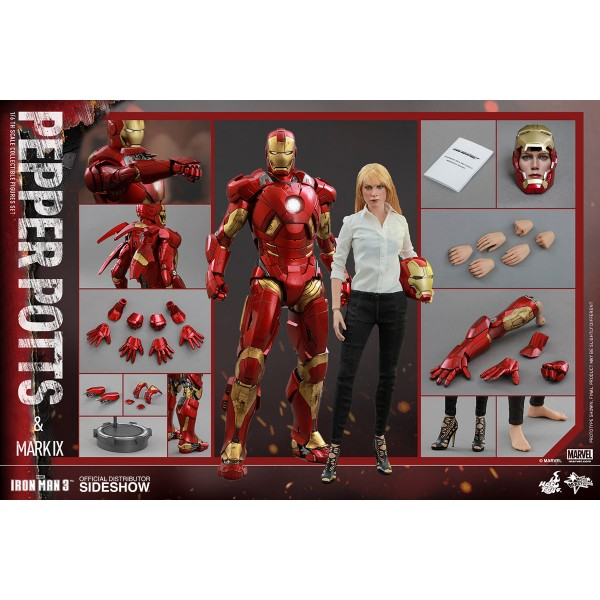 Iron Man 3 Movie Masterpiece Action Figure 2 Pack 1 6 Mark