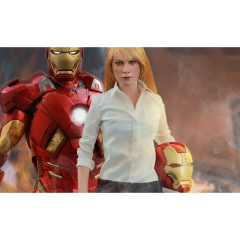 Iron Man 3 Movie Masterpiece Action Figure 2-Pack 1/6 Mark IX and Pepper Potts 30 cm