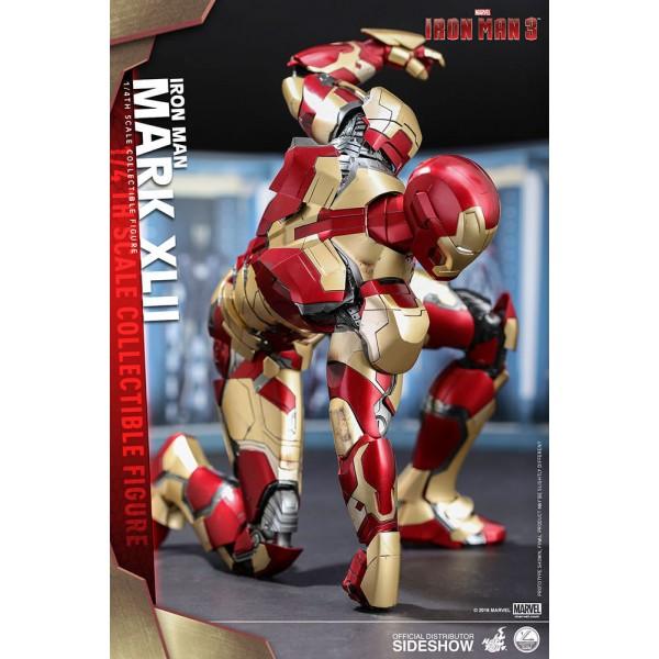 Iron Man 3 QS Series Action Figure 1/4 Iron Man Mark XLII 51 cm