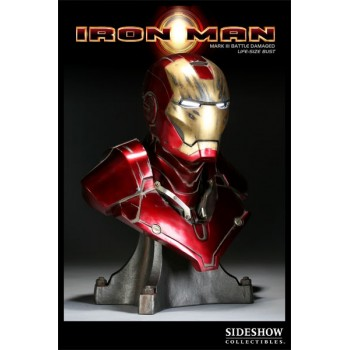 Iron Man MARK III Battle Damaged Life-size Bust 61cm