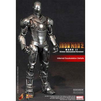 Iron Man 2 Movie Masterpiece Action Figure 1/6 Iron Man Mark II Armor Unleashed 30 cm