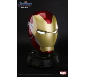 SINGO TOYS Life-Size 1/1 Marvel Licensed Iron Man MK85 Wearable Helmet with Bluetooth Speaker