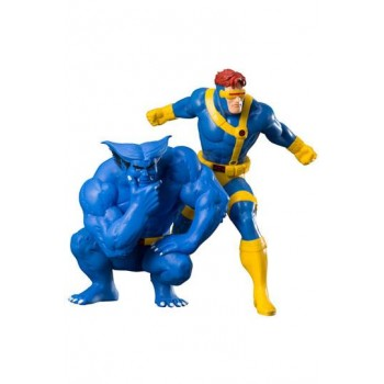 Marvel Universe ARTFX+ Statue 1/10 2-Pack Cyclops and Beast (X-Men '92) 16 cm