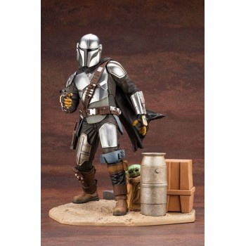 Star Wars The Mandalorian ARTFX Statue 1/7 Mandalorian and The Child 26 cm