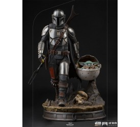 Star Wars The Mandalorian: The Mandalorian and The Child Legacy Replica 1/4 Scale Statue 56 cm