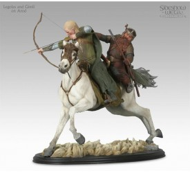 Lord Of The Rings Statue - Legolas and Gimli on Arod --- DAMAGED PACKAGING