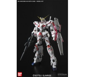 Mobile Suit Gundam Unicorn Model Kit Master Grade Unicorn HD with Cage 23 cm