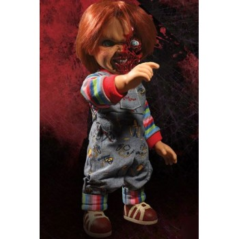 Child´s Play 3 Designer Series Talking Pizza Face Chucky 38 cm