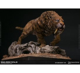 DAMTOYS MUSEUM SIMILODON FATALIS COLLECTIBLE STATUE DRY GOBI DESERT VERSION