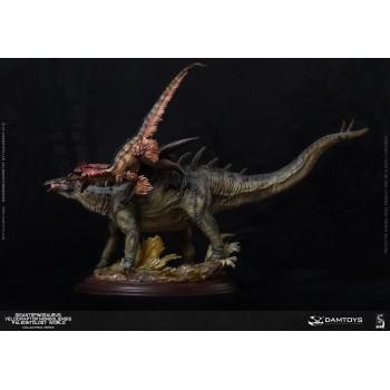Gigantspinosaurus and Inner Mongolia Velociraptor Green Deluxe Edition