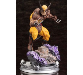 Marvel Comics Fine Art Statue 1/6 Wolverine Brown Costume Danger Room Sessions 20 cm