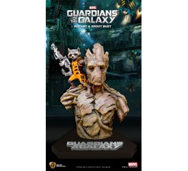 Marvel Guardians of the Galaxy Bust 1/1 Rocket and Groot 201 cm