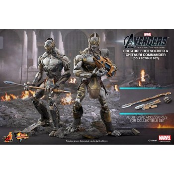 Marvel The Avengers Chitauri Comamander and FootSoldier Twin Pack 1/6 Scale Figures 30cm