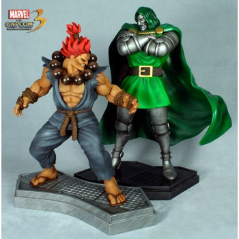 Marvel vs. Capcom 3 Statue 1/4 2-Pack Dr. Doom vs. Akuma 49 x 55 cm