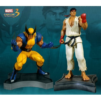 Marvel vs. Capcom 3 Statue 1/3 2-Pack Ryu vs. Wolverine 66 x 54 cm