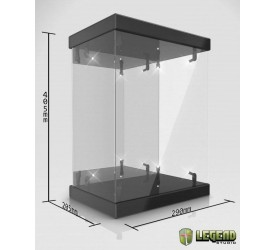 Master Light House Acrylic Display Case with Lighting for 1/6 Action Figures (black)