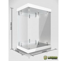 Master Light House Acrylic Display Case with Lighting for 1/6 Action Figures (white)