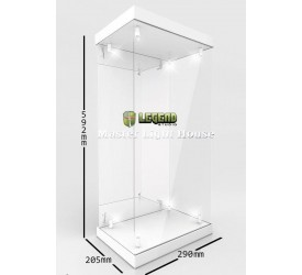 Master Light House Acrylic Display Case with Lighting for 1/4 Action Figures (white)