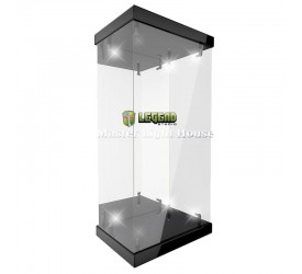 Master Revolving House Acrylic Display Case with Lighting for 1/6 Action Figures (black)