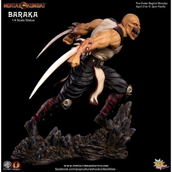 Mortal Kombat 9 Baraka 1 4 Scale Statue 44 Cm