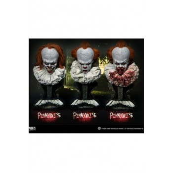 Stephen Kings It 2017 Busts 3-Pack 1/2 Pennywise Serious, Dominant and Surprised 42 cm