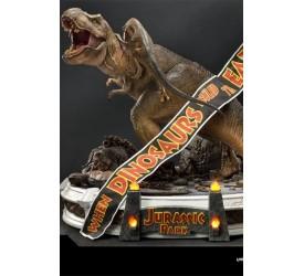 Jurassic Park Statue 1/8 T-Rex vs Velociraptors in the Rotunda 65 cm