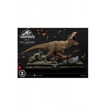 Jurassic World: Fallen Kingdom Statue 1/15 T-Rex and Carnotaurus 90 cm