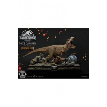 Jurassic World: Fallen Kingdom Statue 1/15 T-Rex and Carnotaurus Deluxe Version 90 cm