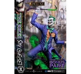 DC Comics Statue 1/3 The Joker Say Cheese Deluxe Bonus Version 99 cm