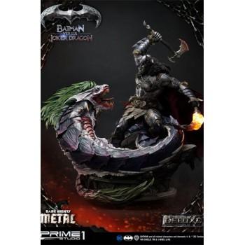 Dark Nights: Metal Statue Batman Versus Joker Dragon Deluxe Version 87 cm