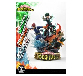 My Hero Academia Statue Midoriya with Bakugo and Todoroki 69 cm