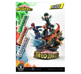My Hero Academia Midoriya with Bakugo and Todoroki 1/4 Scale Statue Deluxe Version 69 cm