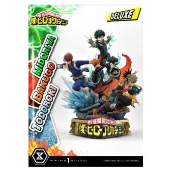 My Hero Academia Midoriya with Bakugo and Todoroki 1/4 Scale Statue Deluxe Version 69 cm