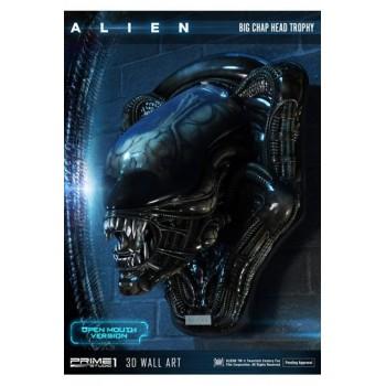 Alien 3D Wall Art Big Chap Head Trophy Open Mouth Version 58 cm