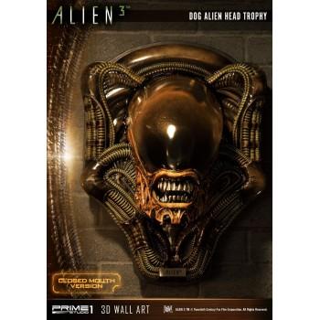 Alien 3 Dog Alien Head Trophy Closed Mouth Version Statue