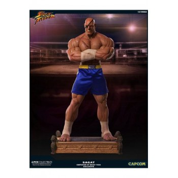 Street Fighter Statue 1/3 Sagat PCS Emperor of Muay Thai Exclusive 93 cm