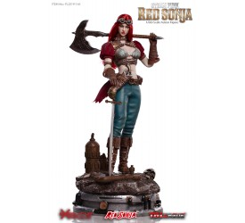 Red Sonja Action Figure 1/6 Steampunk Red Sonja Classic Version 29 cm (Base not included)