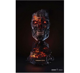 Terminator 2: Judgment Day Replica 1/1 T-800 Endoskeleton Mask Battle Damaged Version 46 cm