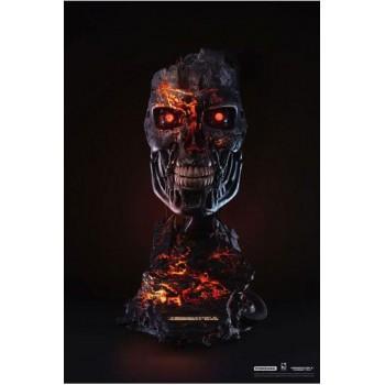 Terminator 2: Judgment Day Replica 1/1 T-800 Endoskeleton Mask Battle Damaged Version 46 cm